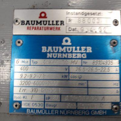 Baumüller Servomotor GNAFF 100MV