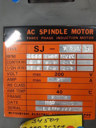 Mitsubishi AC Servomotor SJ-7,5A